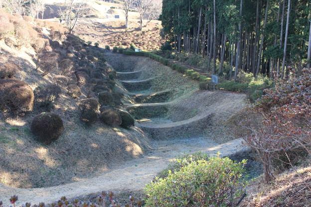 Photos: 【山中城:西の丸エリア】左奥にある島が西櫓、右側の島が西の丸、撮影地点は元西櫓。 #静岡の旅2016