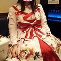Photos: 今日のお出かけで着た服。メタモの乙女の白昼夢のタックJSK。金魚のプリントとタックJSKのデザインがめちゃ可愛い(*´ω`*)