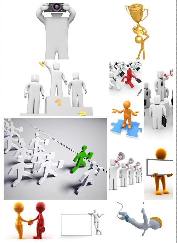 3D卡通小人图片素材