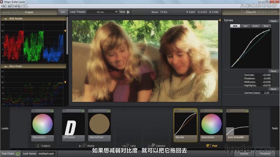 LOOKS调色工具详解视频教程
