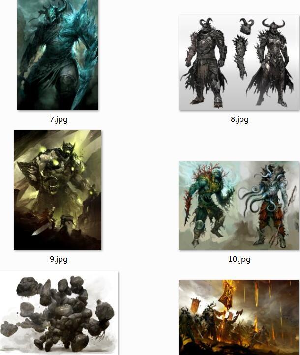 【原画设定】游戏设计场景+各种人物角色绘画图 2800张