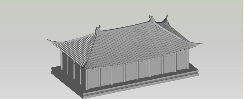 3D古代建筑SketchUp模型库