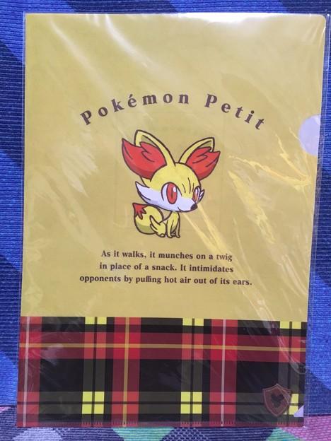 ポケモンセンターオリジナル Pokemon Petit フォッコ A4&A5クリアファイルセット