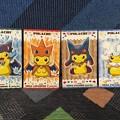 いろいろなポンチョ姿のピカチュウ名刺カードプレゼント第1弾