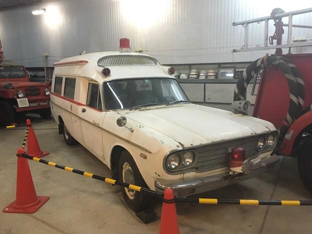 トヨタ クラウンFS45V メトロポリタン型救急車 消防自動車博物館 ファームリゾート鶏卵牧場