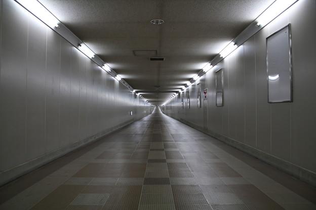 写真: 東成田駅から空港第2ビル駅への連絡通路