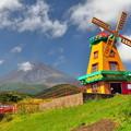 風車と富士山(FF)
