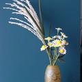 造花ススキと小菊1