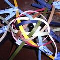 Photos: 小毬半分まで編む