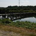 Photos: 越辺川の冠水橋、八幡橋