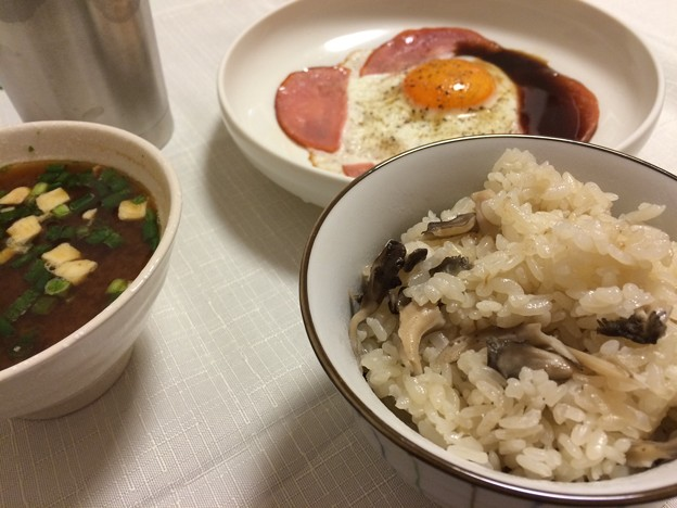 天然舞茸の炊き込みご飯