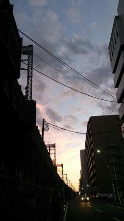 台風一過で今日の夕焼けはきれいなのでは?!