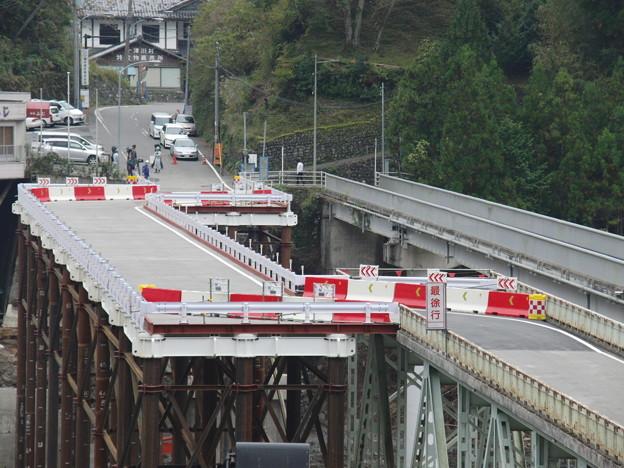 十津川村折立の仮橋開通!