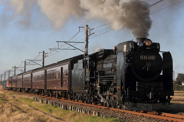 Photos: 試9421レ D51 498+旧型客車 6両+DE10 1752