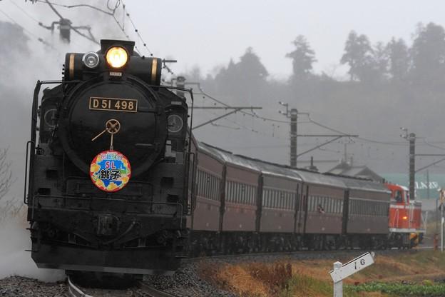 Photos: 9421レ D51 498+旧型客車 6両+DE10 1751