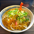 写真: うどん屋 一本 えび天うどん tempura udon 広島市中区弥生町