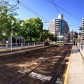 広島電鉄 比治山下電停 広島駅方向 広島市南区比治山本町