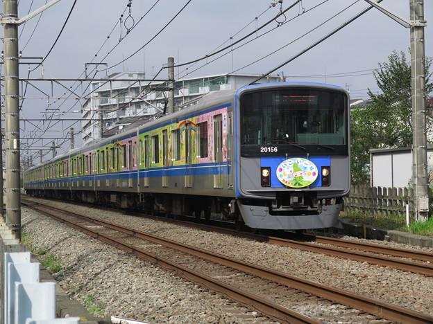 20000系 いこいーな(西東京市)ラッピング @西武鉄道新宿線 花小...