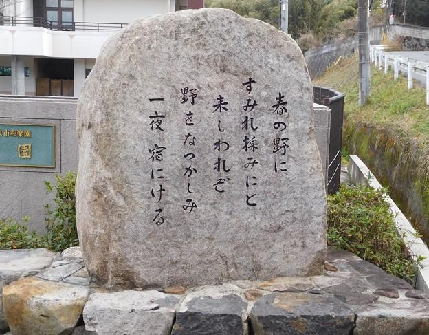山部赤人歌碑(巻8ー1424) (1)