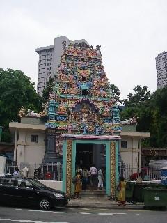 チャイナタウンにあるヒンズー教の寺院