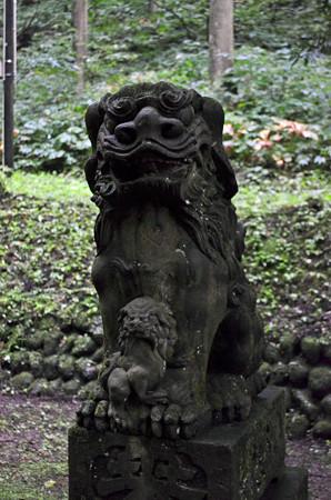 1408玉簾の滝御獄神社の狛犬