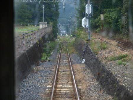 日光線の車窓(日光駅構内)1