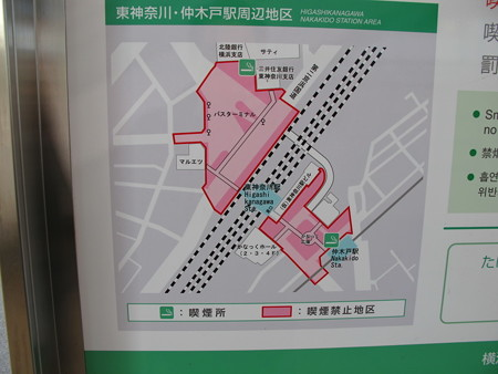 東神奈川駅と仲木戸駅の位置が分かる地図