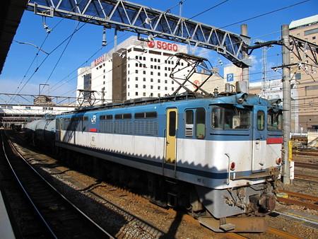 EF65-1057+タキ(八王子駅)