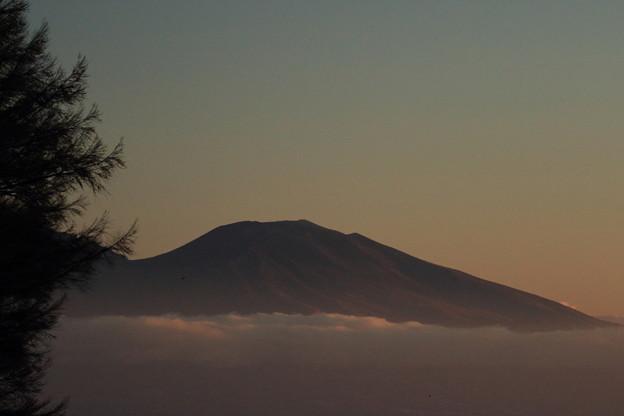 夜明け前の蓼科山