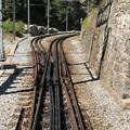 Photos: 複雑な構造のラック式路線のポイント