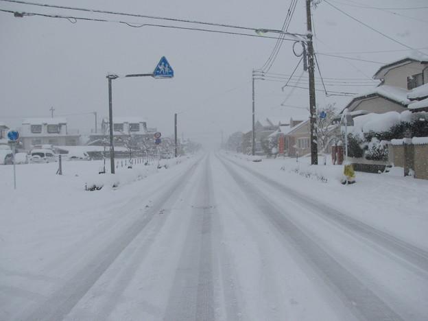 雪の小郡市内(2)