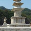 Photos: 伝念仏寺址三重石塔~韓国慶州 Three-story stone pagoda in  the sky