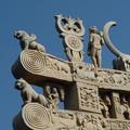 Photos: 珠玉の北塔門~仏教彫刻 Buddhist symbols,Northern torana