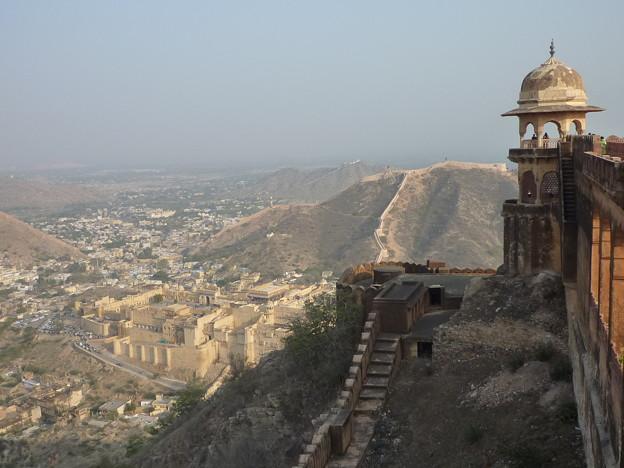 ジャイガル要塞から Panoramic view of Amer Palace