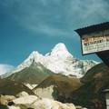 写真: エベレスト大地震パンボチェ の被害全壊2軒、1軒は死亡したシェルパの~ Chai to reduce fatigue ,Nepal