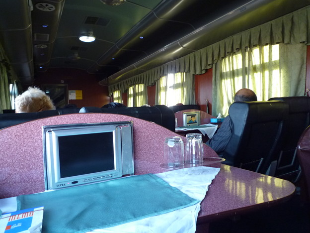 """シルクロード シャルク号の風景 Express train  """"Sharq"""""""