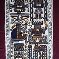 チチカカ湖ウロス島の刺繍 Uros Island's embroidery in Peru