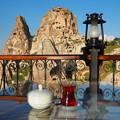 Photos: *城塞や眺めつつ飲むチャイ暑し Uchisar Castle & Flowers