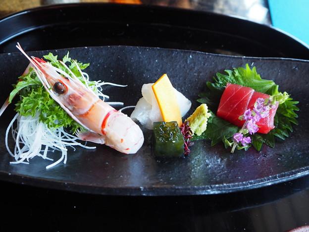 会席料理「収穫の喜び」向附 Japanese Cuisine at Sunainosa-to