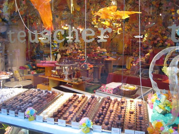 写真: チョコレート店