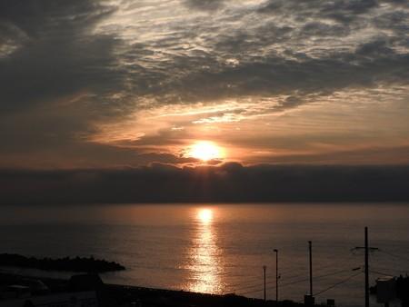 駿河湾の朝日21