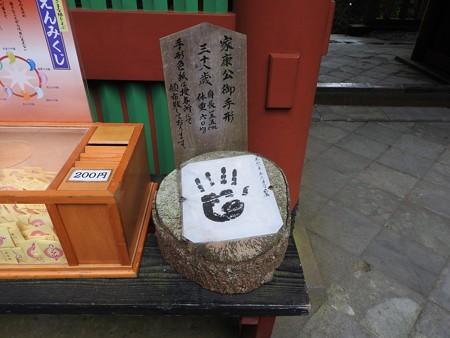 久能山東照宮72 家康の手形