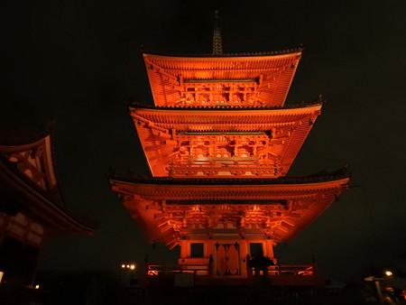 清水寺(夜)08 三重塔