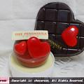 写真: 球体チョコとハートタブレット