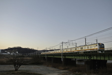 多摩川の朝景色