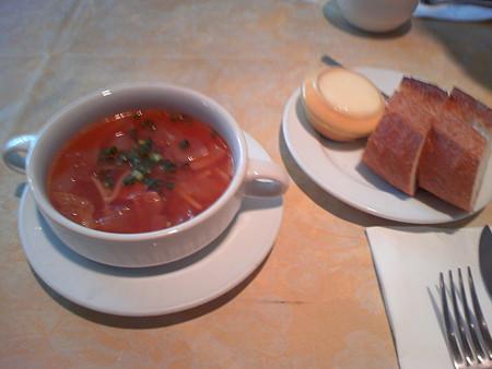 目白 Kazamidori スープとパン