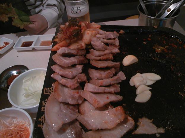 写真: 米沢三元豚 サムギョプサルセット?