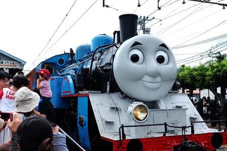 2014.07.28 大井川鉄道・新金谷駅 トーマスホームに