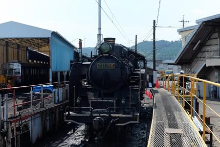 2014.07.28 新金谷駅 蒸気機関車C11-190