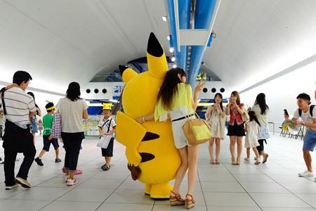 2014.08.13 みなとみらい駅 「ピカチュウ大量発生チュウ!」